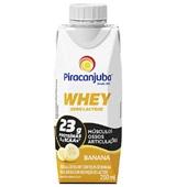 Bebida Láctea Whey Zero Lactose Sabor Banana 250ml 1 UN Piracanjuba