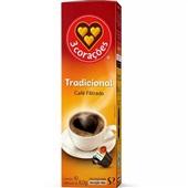 Cápsula de Café Filtrado Clássico Tres CX 10 UN 3 Corações