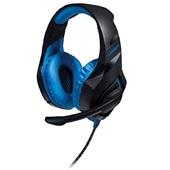 Headset Gamer Warrior com LED 2.0 USB Preto e Azul PH244  1 UN Multilaser