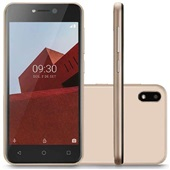 Smartphone E 3G 32GB Tela 5.0 Android 8.1 Dual Câmera 5MP+5MP Dourado P9129 1 UN Multilaser