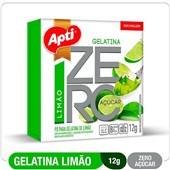 Gelatina Limão Zero Açúcar 12g 1 UN Apti