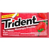 Goma de Mascar Sabor Morango sem Açúcar 8g 1 UN Trident