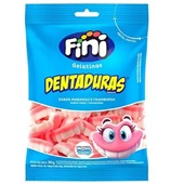 Bala de Gelatina Dentaduras 90g 1 UN Fini