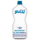Álcool Etílico Líquido Para Limpeza Bactericida 70ºinpm 1L 1 UN Zulu