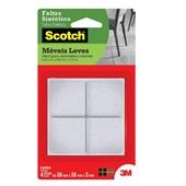 Protetor Adesivo de Feltro Sintético Quadrado Scotch Branco Grande 4 UN 3M