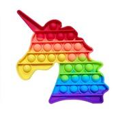 Pop It Fidget Brinquedo de Apertar Anti Stress Colorido Unicórnio