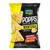 Popps Chips de Pipoca Manteiga PT 35g 1 UN Roots To Go