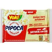 Pipoca para Microondas Natural Com Sal 90g Yoki