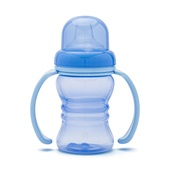 Copo Clean com Bico de Silicone 150ml Azul 1 UN Lolly