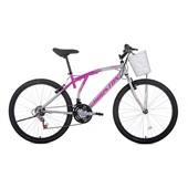 Bicicleta Bristol Lance Aro 26 Rosa e Branca 1 UN Houston