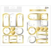 Adesivo Decorado Duplo Metalizado Presente De/Para Grafon's 1 FL Tilibra