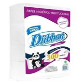Papel Higiênico Folha Simples Rolão 300m Branco II PT 8 RL Dubbon