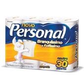 Papel Higiênico Folha Simples 30m Branco PT 8 RL Personal