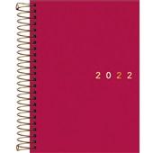 Agenda 2022 Executiva Espiral Diária 12,9x18,7cm Napoli Feminina 1 UN Tilibra