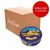 Biscoito Danish Style Butter Cookies 340g Lata CX 12 UN Santa Edwiges