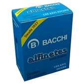 Alfinete para Mapa Nº1 Azul CX 50 UN Bacchi
