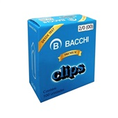 Clips Nº2/0 Galvanizado CX 100 UN Bacchi