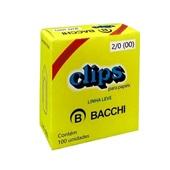 Clips Nº2/0 Galvanizado Linha Leve CX 100 UN Bacchi