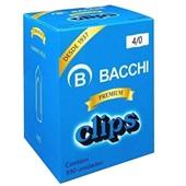 Clips Nº4/0 Galvanizado CX 390 UN Bacchi