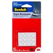 Protetor Anti-Impacto Redondo Scotch Transparente Médio 12 UN 3M