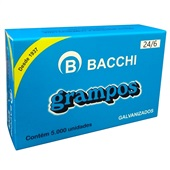 Grampo Galvanizado 24/6 CX 5000 UN Bacchi