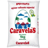 Açúcar Refinado 1kg Caravelas