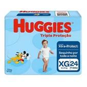 Fralda Descartável Disney Baby Tripla Proteção Pacote Econômico Extra G PT 24 UN Huggies