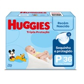Fralda Descartável Disney Baby Tripla Proteção Pacote Econômico P PT 36 UN Huggies