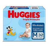 Fralda Descartável Disney Baby Tripla Proteção Pacote Econômico M PT 32 UN Huggies