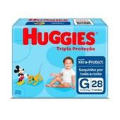Fralda Descartável Disney Baby Tripla Proteção Pacote Econômico G PT 28 UN Huggies