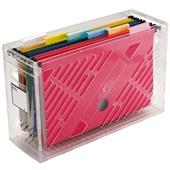 Caixa Arquivo Cristal DelloColor com 6 Pastas Suspensas Coloridas Dello