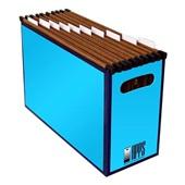 Arquivo Papelão Azul com 10 Pastas Suspensas Kraft 1 UN Apps