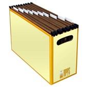 Arquivo Papelão Amarelo com 10 Pastas Kraft 1 UN Apps