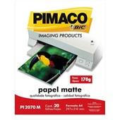 Papel Fotográfico Matte A4 PI2070M PT 20 FL Pimaco