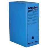 Arquivo Morto Ofício Polionda 350x250x130mm Azul 1 UN Polibras