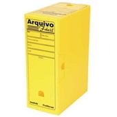 Arquivo Morto Ofício Polionda 350x250x130mm Amarelo 1 UN Polibras