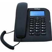 Telefone com Fio com Identificador de Chamadas Viva Voz Preto TC 60 Intelbras