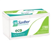Papel Toalha Interfolha Eco 3 Dobras 22x23cm CX 2400 FL Santher
