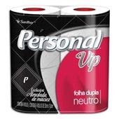 Papel Higiênico Folha Dupla 30m Neutro Branco PT 4 RL Personal Vip