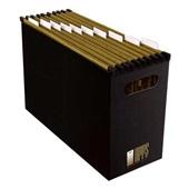 Arquivo Papelão Preto com 10 Pastas Suspensas Kraft 1 UN Apps