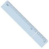 Régua Acrílica Cristal 30cm 7130 1 UN Trident