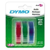 Fita Rotulador Manual 9mm x 3m Azul Vermelho Verde Dymo