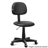 Cadeira Secretária Giratória sem Apoio Courvin Preta P1 1 UN Martiflex