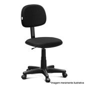 Cadeira Giratória Secretária sem Apoio Tecido Preto P2 1 UN Martiflex