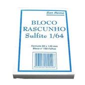 Bloco para Rascunho Sulfite sem Pauta 8x12cm 100 FL 1 UN San Remo
