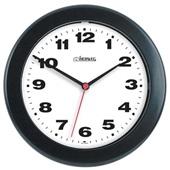 Relógio de Parede Redondo Preto 21x21x3cm 1 UN Herweg