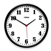 Relógio de Parede Redondo Preto 26x26x4cm 1 UN Herweg