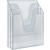 Organizador de Escritório Vertical Cristal 335x117x237mm 864 1 UN Acrimet
