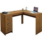 Mesa Escrivaninha Fênix com 3 Gavetas Castanho 75,5x127x46,5cm 1 UN Po
