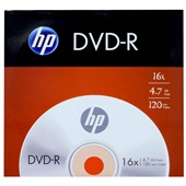 DVD-R Gravável 120min 4.7GB 16X 1 UN HP
